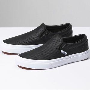 Kid's Leather Slip-On Vans